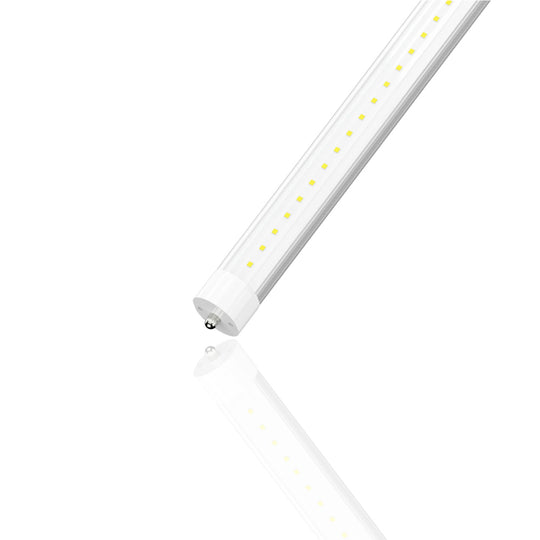 T8 8ft 40W LED Tube Light 4800 Lumens Single Pin 6500K Clear