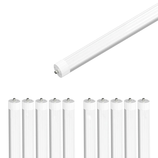 T8 8ft LED Tube 40W 4800 Lumens Single Pin 4000K Frosted