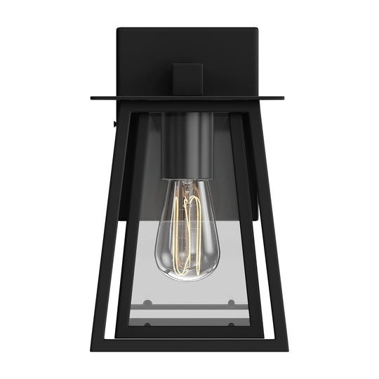 Matte Black Finish Wall Sconce Fixture, UL Listed for Damp Location, E26 Socket Wall Lamp, 3 Years Warranty