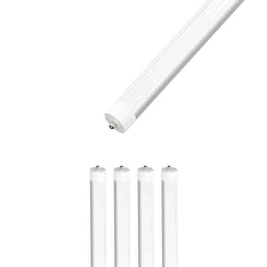 8ft LED Tube 40W 4800 Lumens Single Pin 5000K Frosted
