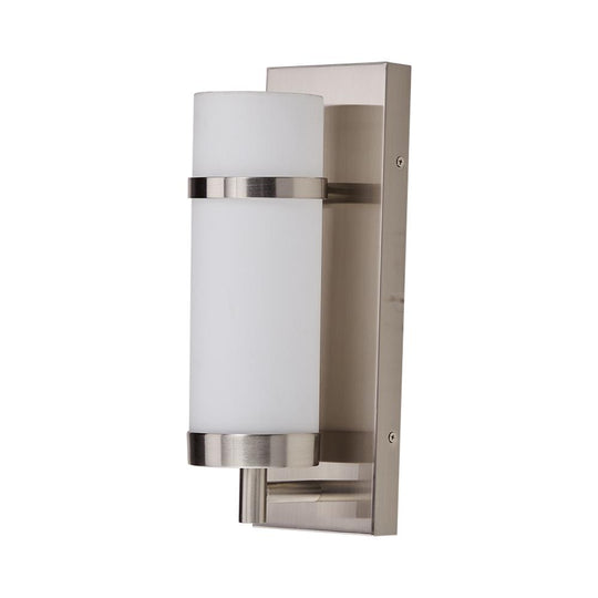 Decorative Wall Lamp with Cylinder-Shape White Glass