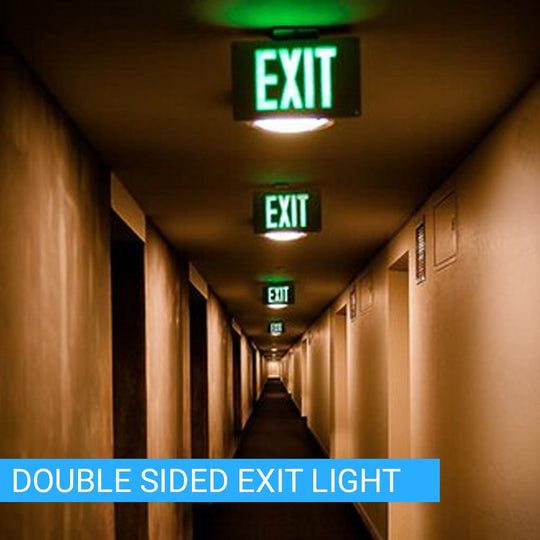 Emergency Light Exit Sign , 4W , Green , UL Listed