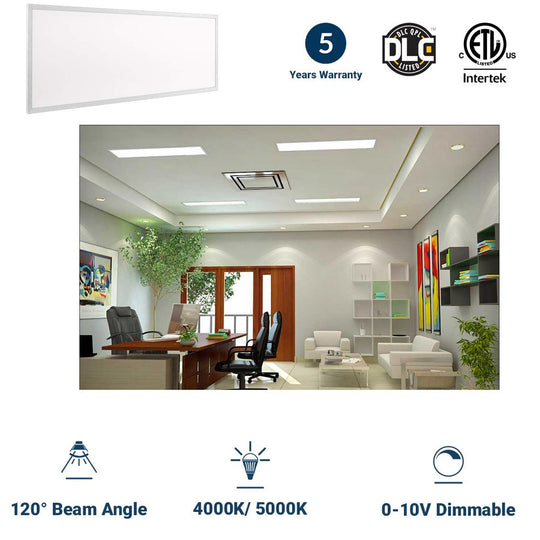 2X4 LED Panel; 50W AC100-277V 5000K; Dimmable; DLC Listed