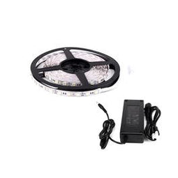 5050 Outdoor LED Strip Light/Tape Light - 12V - Weatherproof IP65 - 378Lumens/ft with Power Supply (KIT)