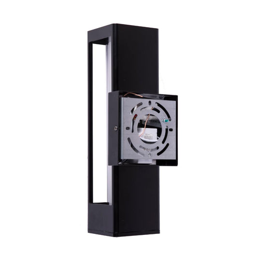 LED Outdoor Wall Light, Matte Black Finish, 12W, ETL Listed - Wet Location, Dimmable