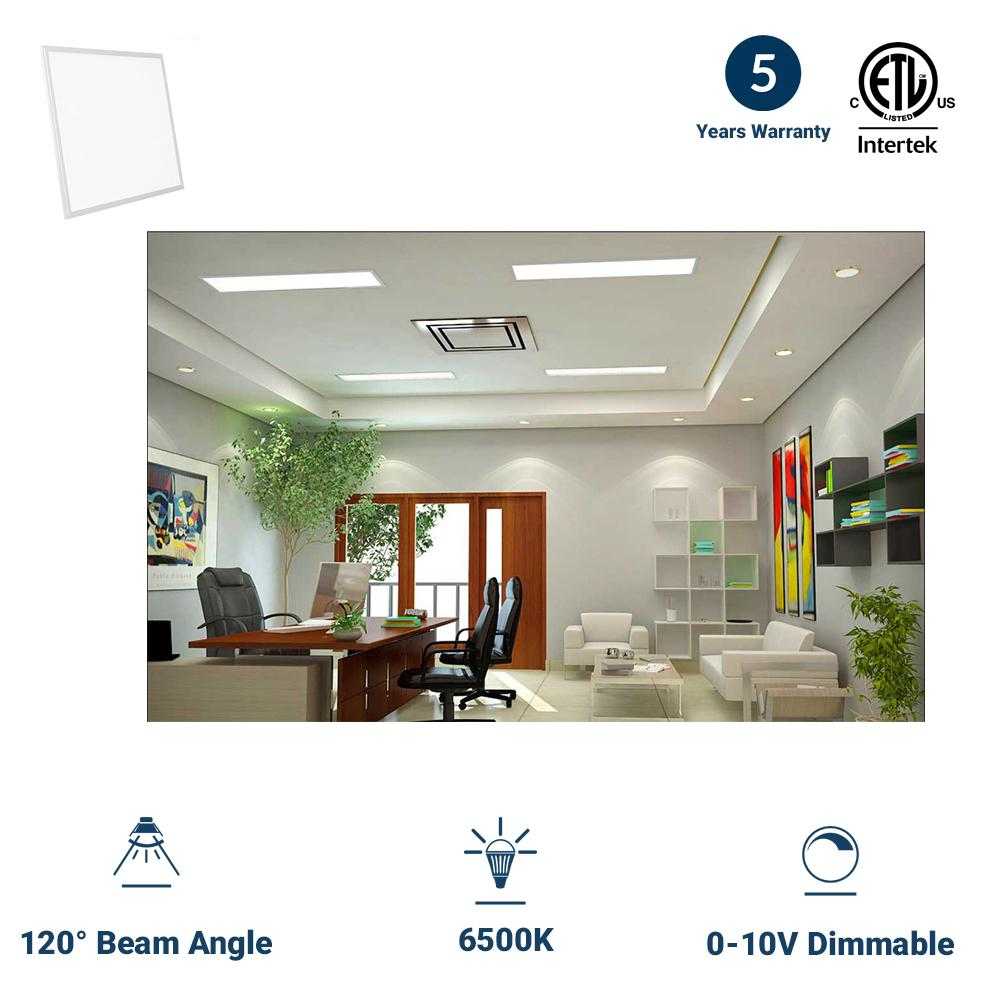 2X2 LED Panel Light 40W - AC100-277V - 6500K - Dimmable