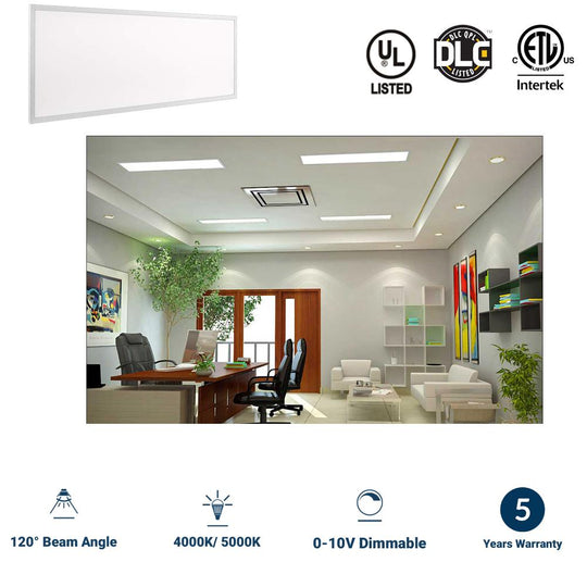 LED Panel 1X4, 40W, 4000K, 4000 Lumens, Dimmable and DLC Listed