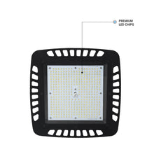Load image into Gallery viewer, 150W Square UFO LED High Bay Light ; AC100-277V ; 5700K Black