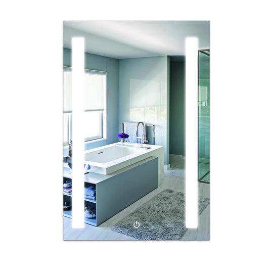 LED Bathroom Lighted Mirror 24 X 36 Inch Lighted Vanity Mirror Includes Defogger Vertical Mirror Light