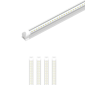 T8 8ft V Shape LED Tube 60W Integrated 6500k Clear