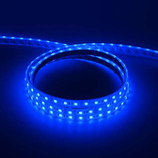 Outdoor RGB LED Strip Lights - 12V LED Tape Light w/ DC Connector - 126 Lumens/ft.