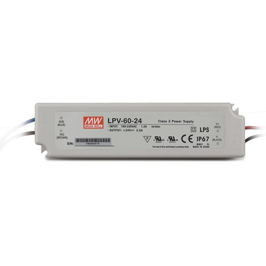 1-Pack Power Supply, Constant Voltage,110/12V, 60W