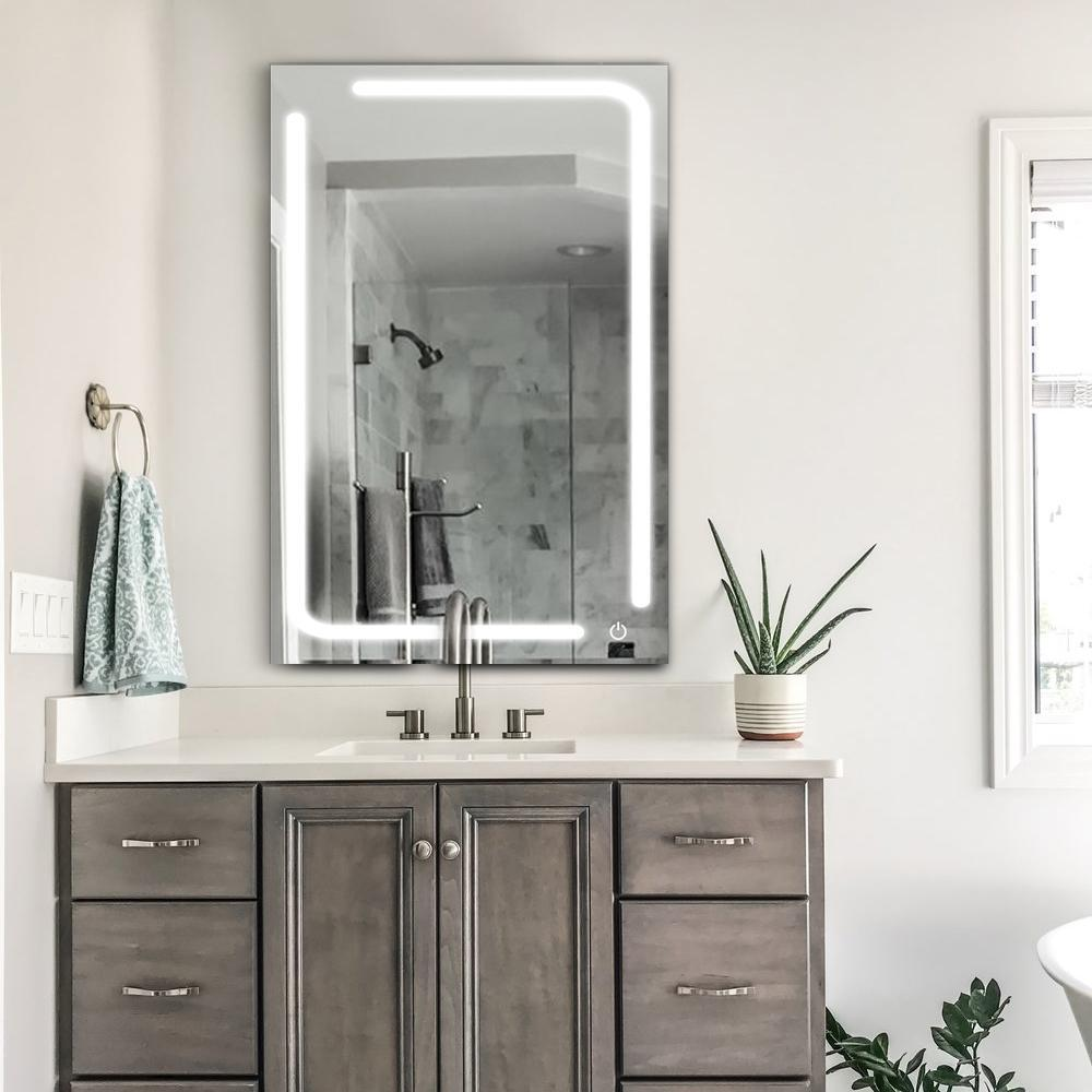 Led Bathroom Mirror 24 X 36 Inch Lighted Vanity Mirror Includes