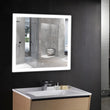 Load image into Gallery viewer, window style led bathroom mirror