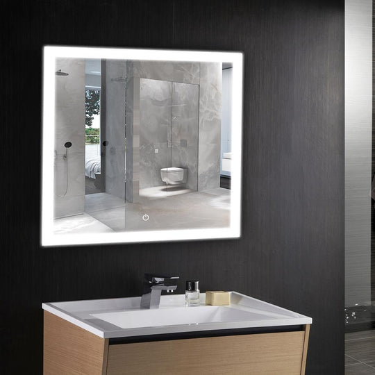 window style led bathroom mirror
