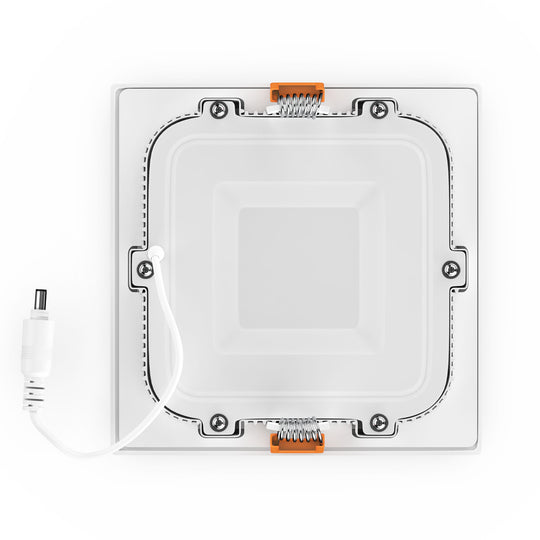 "4"" Ultra Thin Square LED Recessed Lighting with Junction Box, 9W, 650lm, Damp Location, Dimmable Recessed Lights"