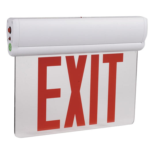 Emergency Light Edge Lit Exit Sign , 3W , Red UL Listed