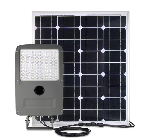 LED Solar Flood Light Set ; 30W w/ 80W Solar Panel ; 6000K - LEDMyplace