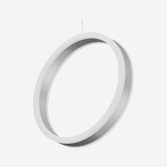 Ring 1-Light LED Unique Design Pendant, 34W, 3000K (Warm White), 1028LM, Dimmable, Aluminum Body Finish, Pendant Mounting