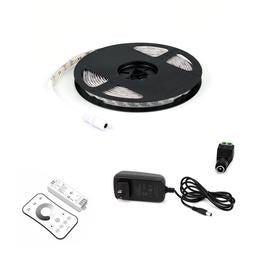 12V LED Strip Lights - LED Tape Light with DC Connector - 192 Lumens/ft. with Power Supply and Controller (KIT)