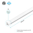 Load image into Gallery viewer, T8 8ft LED Tube 40W 5600  Lumens Single Pin 4000K Frosted