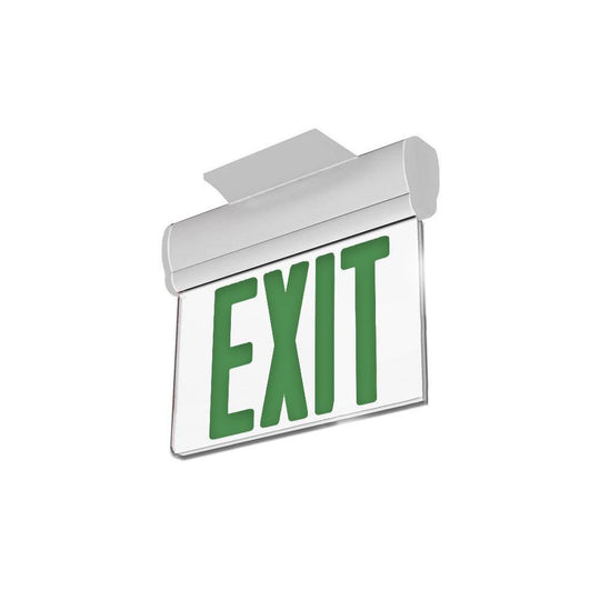 Emergency Light Edge Lit Exit Sign , 3W , Green UL Listed