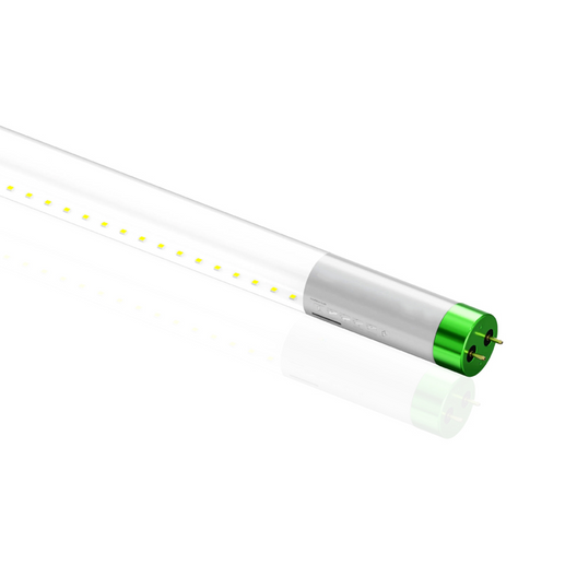 Hybrid T8 4ft LED Tube Glass 18W 2400 Lumens 5000K Clear (Check Compatibility List; Not Compatible with all ballasts)