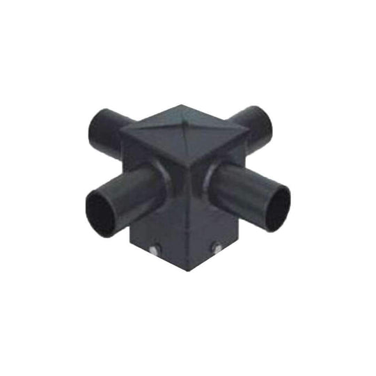 Internal tenon adaptor for 4 inch square poles. 4 ARMS at 90 degrees - LEDMyplace