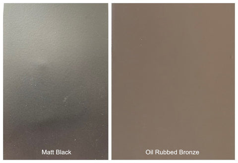 Matt Black & Oil Rubbed Bronze