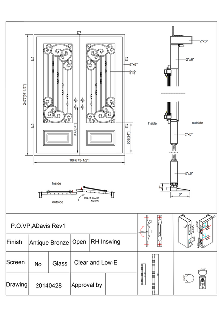 Lion Iron Door CAD drawing