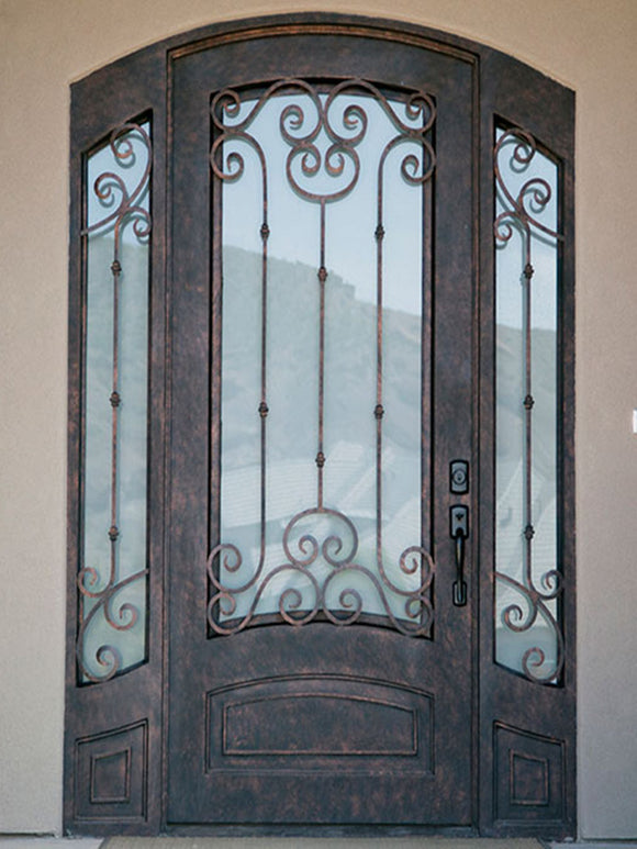 iron single door with sidelites 012