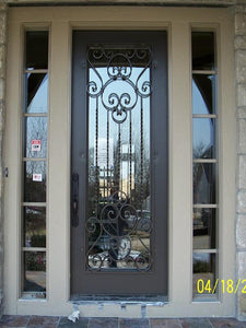 iron single door with sidelites 014