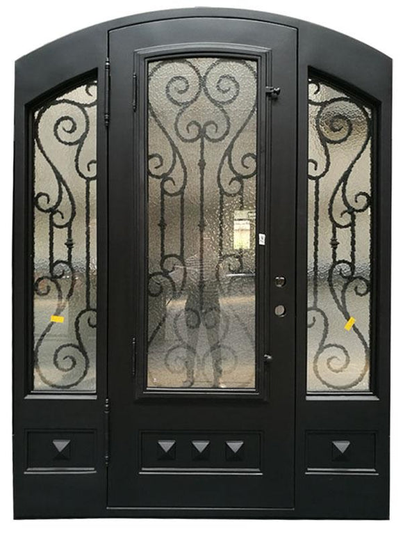 iron single door with sidelites 015