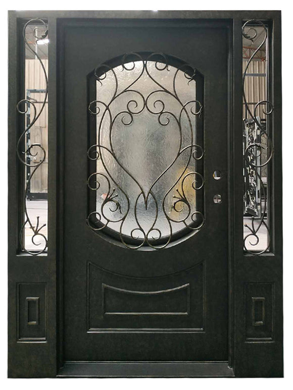 iron single door with sidelites 016