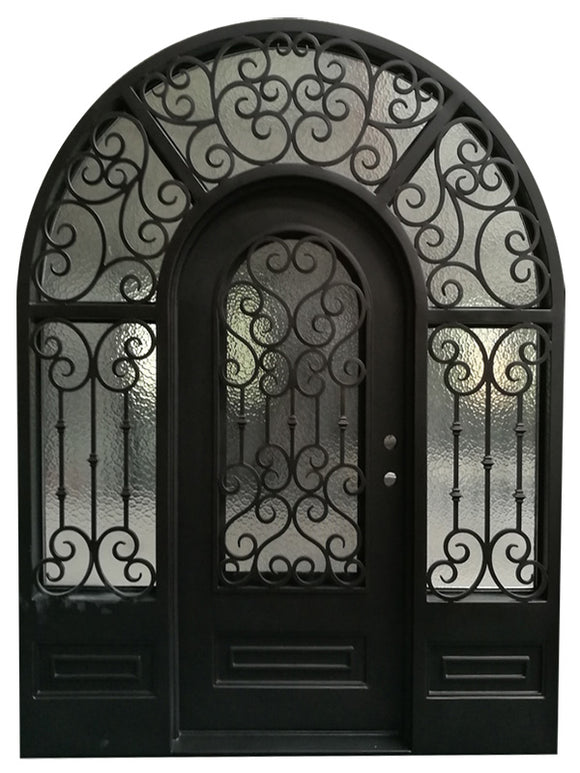 iron single door with sidelites 018