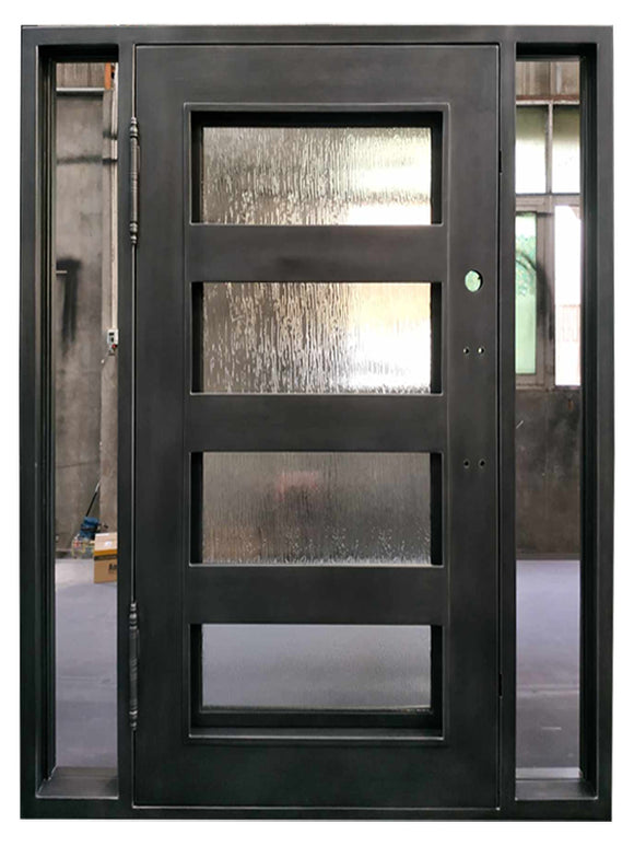 iron single door with sidelites 019