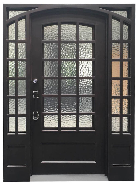 iron single door with sidelites 20