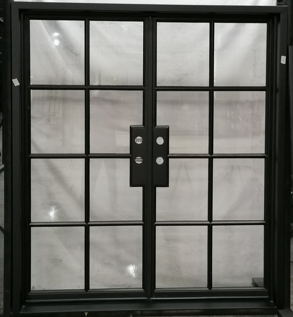 924#23-French  Steel door-8 Lites -72 x 81 x 6 Inches -Left Hand-Inswing