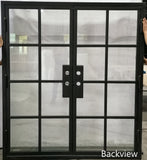 924#24-French Steel door-8 Lites -72 x 81 x 6 Inches -Right Hand-Inswing back view