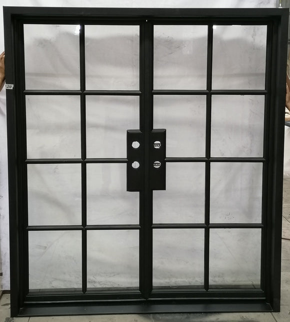 924#24-French  Steel door-8 Lites -72 x 81 x 6 Inches -Right Hand-Inswing