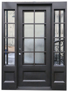 iron single door with sidelites 24