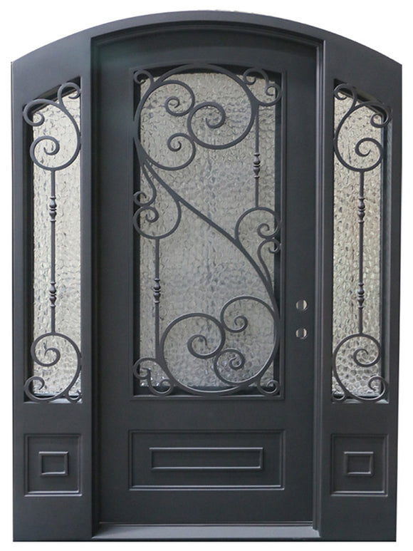 iron single door with sidelites 003
