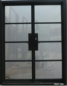 926#11-French  Steel door-4 Lites -72 x 96 x 6 Inches -Right Hand-Inswing