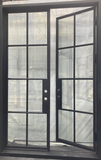 927#15-French Steel Door-8 Lites -72 x 108 x 6 Inches-Right Hand-Inswing