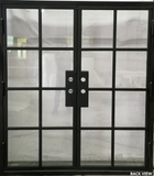927#05-French Steel Door-8 Lites -72 x 81 x 6 Inches-Right Hand-Inswing