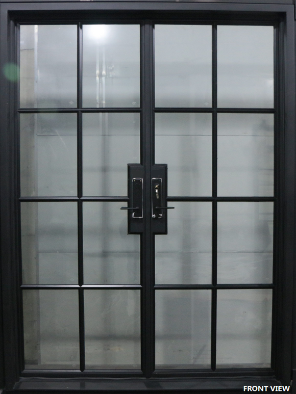 927#07-French Steel Door-8 Lites -72 x 96 x 6 Inches-Right Hand-Inswing
