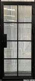 928#11-French Steel door-8 Lites -42 x 96 x 6 Inches -Left Hand-Inswing back view