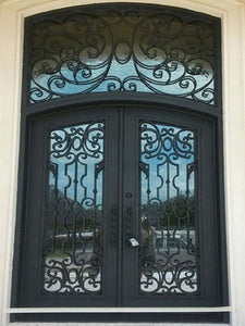 double door with transom 006