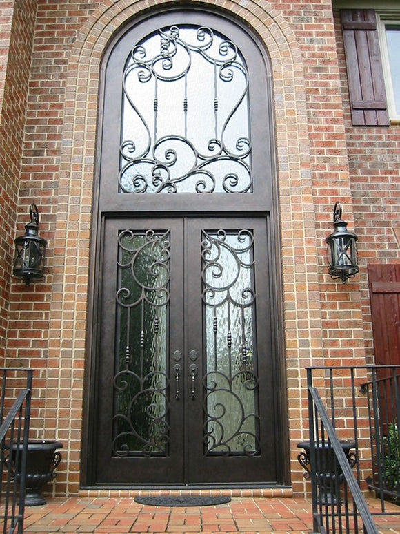 double door with transom 007