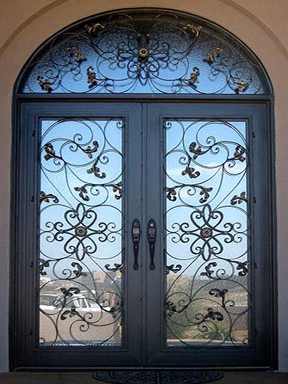 double door with transom 009